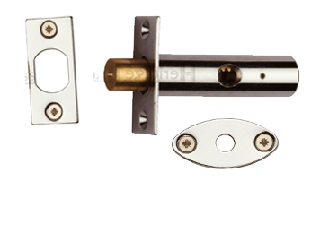 Heritage Brass Hex/Rack Bolt Without Turn, Polished Nickel - RB7-PNF