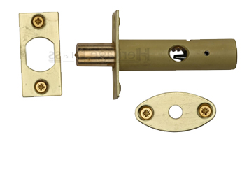 Heritage Brass Hex/Rack Bolt Without Turn, Satin Brass - RB7-SB