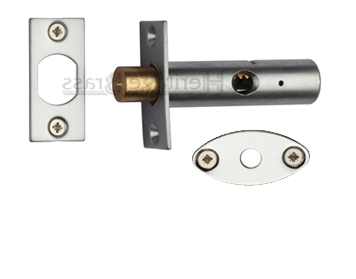 Heritage Brass Hex/Rack Bolt Without Turn, Satin Chrome - RB7-SC