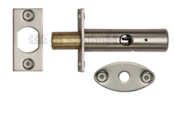Heritage Brass Hex/Rack Bolt Without Turn, Satin Nickel - RB7-SN