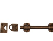 M Marcus Slide Door Bolt (152mm OR 203mm), Solid Bronze Rustic - RBL2571