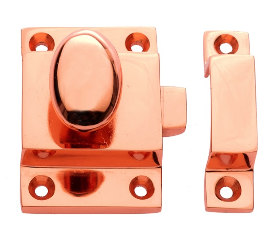 Prima Cupboard Catch With Oval Knob (55mm x 40mm), Rose Copper - RC899 None