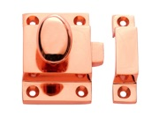 Prima Cupboard Catch With Oval Knob (55mm x 40mm), Rose Copper - RC899