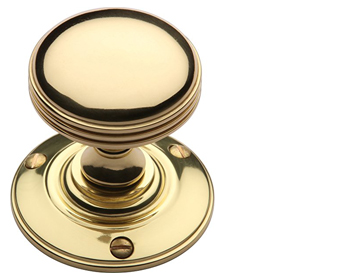Heritage Brass 'Richmond' Mortice Door Knob, Polished Brass - RHM988-PB (sold in pairs)