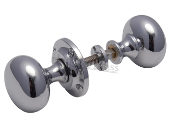 Heritage Brass 'Victoria' Rim Door Knob, Polished Chrome - RIM V980-PC (sold in pairs)