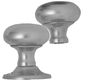 VICTORIA RIM DOOR KNOBS, SATIN CHROME - RIM V980SC