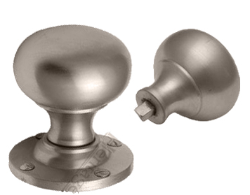 VICTORIA RIM DOOR KNOBS, SATIN NICKEL - RIMV980-SN