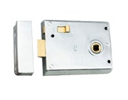 Eurospec Rim Latches, Polished Or Satin Chrome, Polished Brass Or Black Finish - RLE8043
