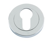 Zoo Hardware Rosso Maniglie Euro Profile Escutcheon, Polished Chrome - RM001CP