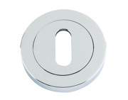 Zoo Hardware Rosso Maniglie Standard Profile Escutcheon, Polished Chrome - RM002CP