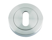 Zoo Hardware Rosso Maniglie Standard Profile Escutcheon, Satin Chrome - RM002SC