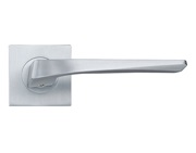 Zoo Hardware Rosso Maniglie Lyra Lever On Square Rose, Satin Chrome - RMSQ090SC (sold in pairs)