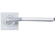 Zoo Hardware Rosso Maniglie Auriga Lever On Square Rose, Satin Chrome - RMSQ140SC (sold in pairs)