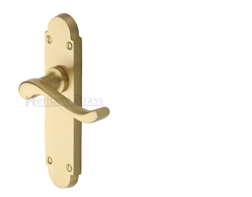 Heritage Brass 'Savoy' Satin Brass Door Handles - S600-SB (sold in pairs)