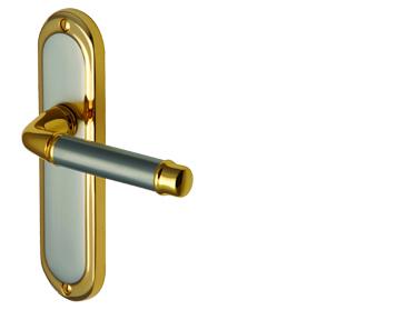 Heritage Brass U0027Saturnu0027 Jupiter Finish, Gold Plate U0026 Satin Nickel Door  Handles