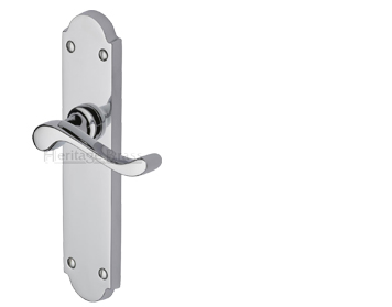 Heritage Brass Savoy Long Polished Chrome Door Handles - V750-PC (sold in pairs)