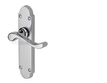 Heritage Brass Savoy Polished Chrome Door Handles - S600-PC (sold in pairs)