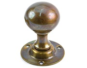 Spira Brass Ball Mortice Door Knob, Aged Brass - SB2102AB (sold in pairs)