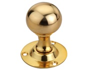 Spira Brass Ball Mortice Door Knob, Polished Brass - SB2102PB (sold in pairs)