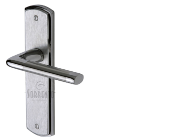 Sorrento Lena Door Handles, Apollo Finish - Satin Chrome & Polished Chrome - SC-2350-AP (sold in pairs)