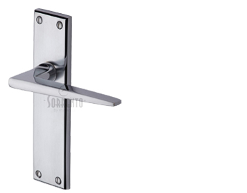 Sorrento Swift Door Handles, Apollo Finish - Satin Chrome & Polished Chrome - SC-3400-AP (sold in pairs)