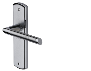 Sorrento Mercury Door Handles, Apollo Finish - Satin Chrome & Polished Chrome - SC-3500-AP (sold in pairs)