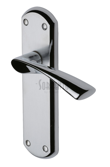 Sorrento Atlanta Door Handles, Apollo Finish   Satin Chrome U0026 Polished  Chrome   SC