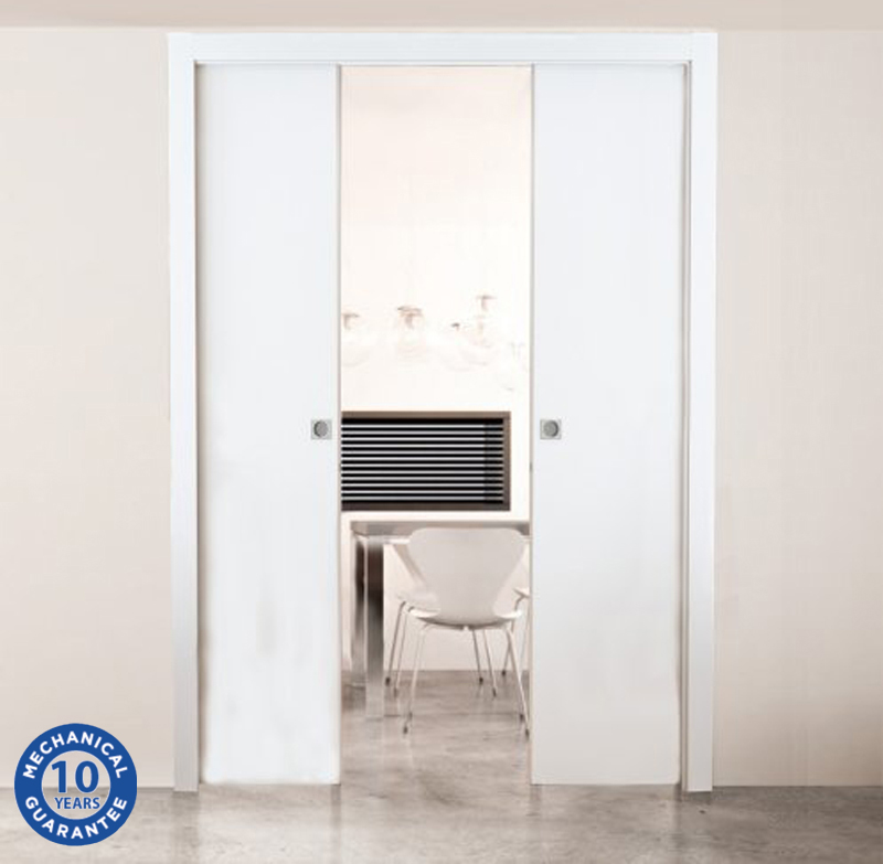 Excel Scrigno U0027Metricu0027 Sliding Pocket Door Cassette System, Double Door Kit  (Various