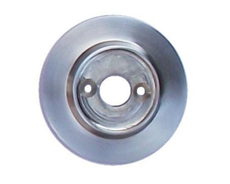 Alternative Backplate Option For Porcelain Mortice Door Knobs - Satin Chrome - SCBUL33 (sold in pairs)
