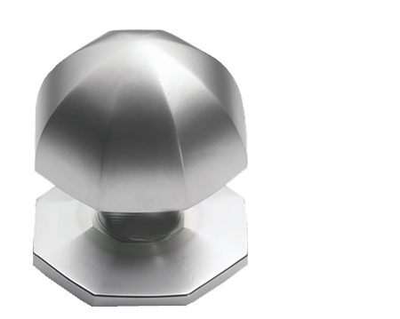 Prima Umbrella Centre Door Knob, Satin Chrome - SCP12A