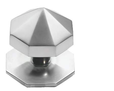 Prima Carousel Centre Door Knob, Satin Chrome - SCP12B