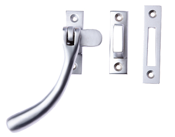 Prima 'Pear Drop' Reversible Casement Fastener For Weatherstripped Windows, Satin Chrome - SCP1400