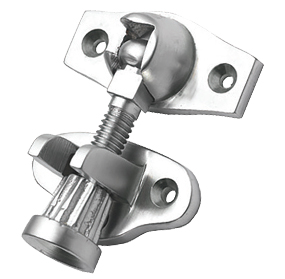 Prima Acorn Sash Window Fastener (Screw Down Type) (45mm x 25mm), Satin Chrome - SCP233