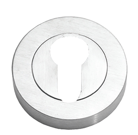 Prima 'Euro Profile' Escutcheon, Satin Chrome - SCP591