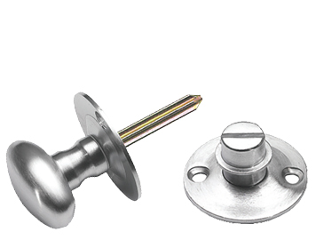 Prima Oval 38mm Diameter Turn & Release Security Key (Hex/Rack), Satin Chrome - SCP661