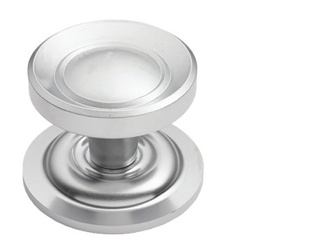 Prima Victorian Centre Door Knob, Satin Chrome - SCP669