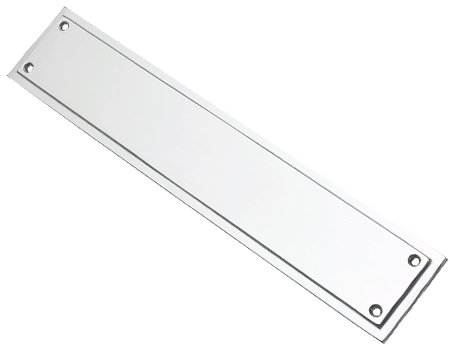 Prima Tudor Finger Plate, Satin Chrome - SCP695