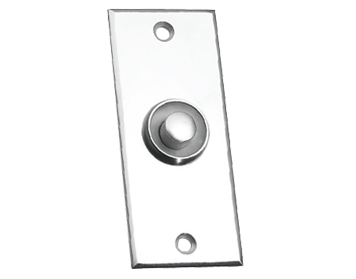 Prima Flat Victorian Bell Push, Satin Chrome - SCP749