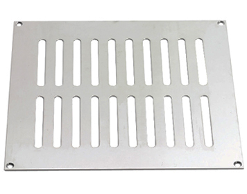 Prima Plain Slotted Vent (Various Sizes), Satin Chrome - SCP860