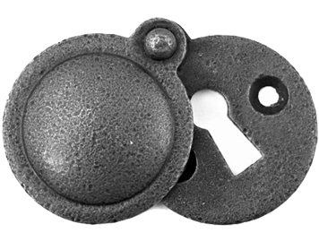 Stonebridge 'Standard Profile' Round Escutcheon With Cover, Forged Steel - SI-ESC-RC-714