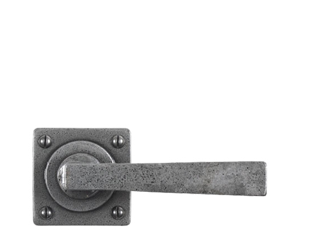 Stonebridge 'Arundel' Door Handles On Square Rose, Forged Steel - SI-L-ARU-628 (Sold In Pairs)