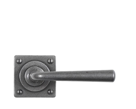 Stonebridge 'Padstow' Door Handles On Square Rose, Forged Steel - SI-L-PAD-601 (Sold In Pairs)