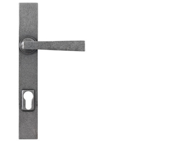Stonebridge 'Arundel' Multipoint Door Handles (250mm Backplate - 92mm C/C), Forged Steel - SI-MP-ARU-634 (Sold In Pairs)