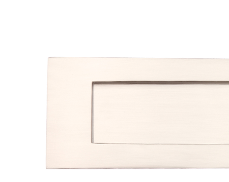 Prima Horizontal Victorian Letter Plate, Various Sizes, Satin Nickel - SN04