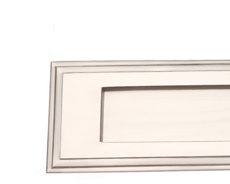 EDWARDIAN STEPPED LETTER PLATES, 282MM X 89MM, SATIN NICKEL - SN10