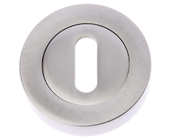 Prima 'Standard Profile' Escutcheon, Satin Nickel - SN1322