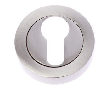 Prima 'Euro Profile' Escutcheon, Satin Nickel - SN1405
