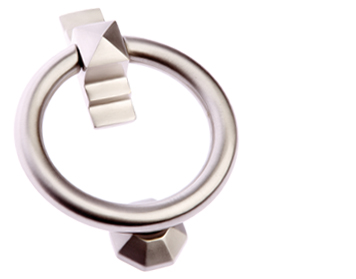 'Ring' Door Knocker, Satin Nickel - SN779