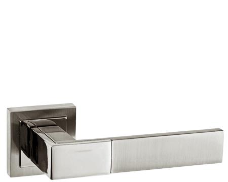 Atlantic Senza Pari U0027Casalliu0027 Dual Finish Polished Nickel U0026 Satin Nickel Door  Handles