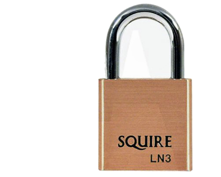Squire Lion Range, 4 Pin, Open Shackle Brass Padlocks, 30mm Size - LN3
